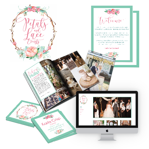 Petals and Lace Events Branding Package